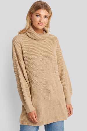 NA-KD Oversized High Neck Long Knitted sweater