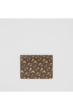 Burberry Porte-cartes en toile écologique Monogram, Brown