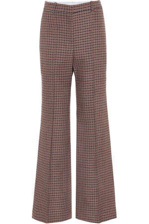 Victoria Beckham Femme Pantalons classiques - Pantalon évasé en laine à carreaux