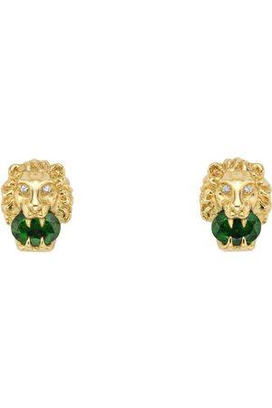 Gucci Boucles d'oreille à tête de lion en or jaune