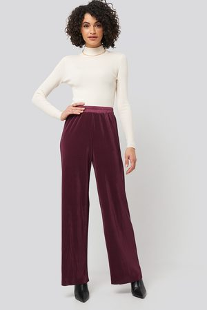 NA-KD Wide Pleated Pants - Red