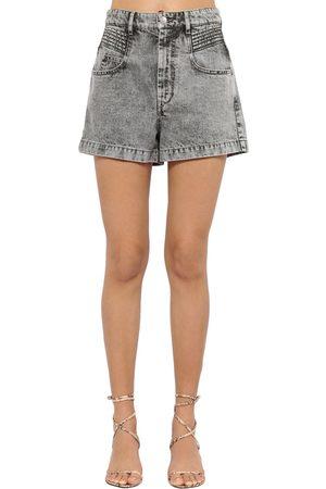 """Isabel Marant Short En Denim De Coton Taille Haute """"hiana"""""""