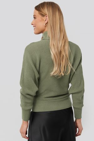 NA-KD Folded Knitted Sweater - Green