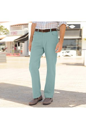 Colors & co Pantalon droit 5 poches twill coton extensible