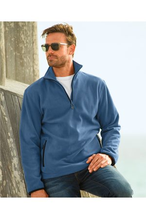 BLANCHEPORTE Sweat col camionneur maille micropolaire