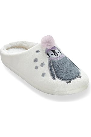 BLANCHEPORTE Mules pompon pingouin