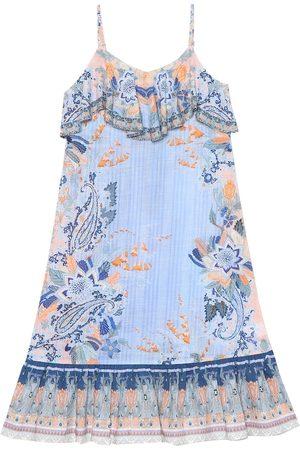Camilla Robe longue imprimée en coton à ornements