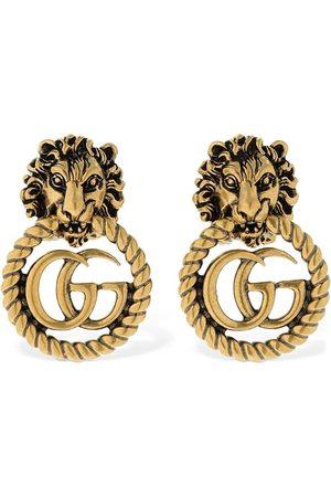 Gucci Boucles D'oreilles Tête De Lion Vintage