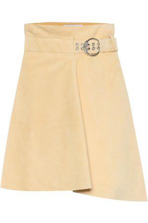 Chloé Mini-jupe asymétrique en daim à taille haute