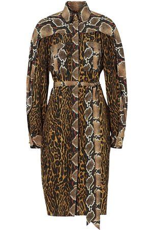 Burberry Robe-chemise courte à motif animalier