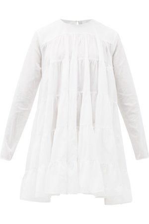 MERLETTE Robe courte en coton à superpositions Soliman