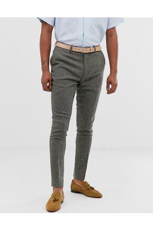 ASOS Pantalon habillé très ajusté motif pied-de-poule