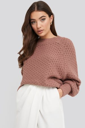 NA-KD Batwing Knitted Sweater - Pink