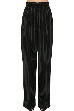 Dolce & Gabbana Pantalon Ample En Laine À Fines Rayures