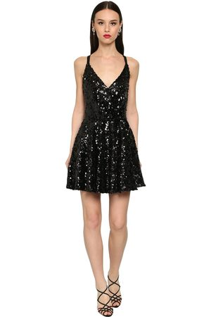 Dolce & Gabbana Robe Évasée En Sequins