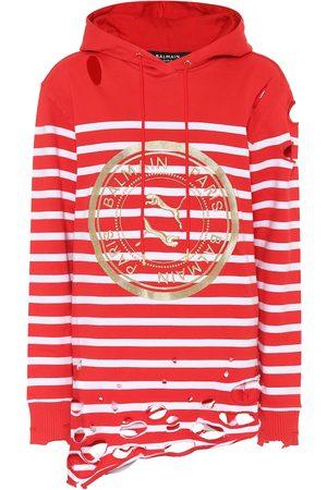 Puma X Balmain – Sweat-shirt à capuche en coton