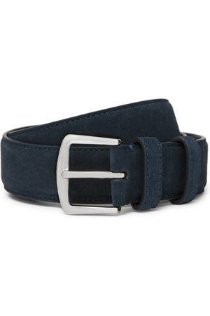 Loro Piana 3.5cm Midnight- Suede Belt