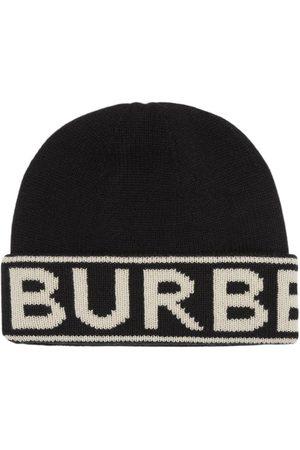 Burberry Bonnet en cachemire à logo