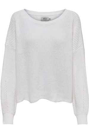 Only Ample Pull En Maille Women White