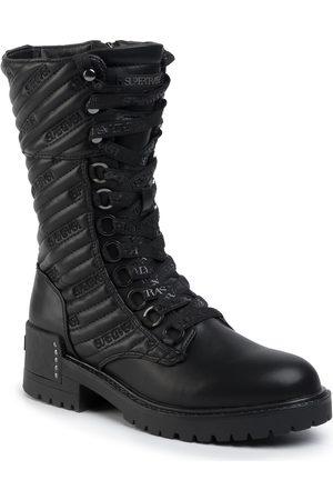 SuperTrash Femme Chaussures de randonnée - Bottes de randonnée - Bibi Xhigh Qlt W 1941 006907 Black 0999