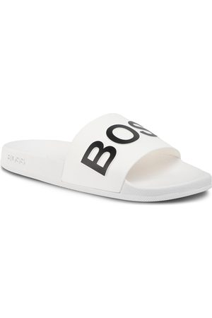 HUGO BOSS Mules / sandales de bain - Bay 50425152 10224455 01 White 100