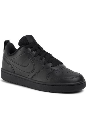 Nike Chaussures - Court Borough Low 2 (GS) BQ5448 001 Black/Black/Black