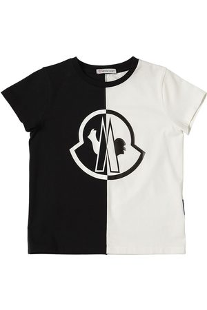 Moncler T-shirt En Jersey De Coton Color-block