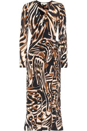 Diane von Furstenberg Robe portefeuille Tilly imprimée en soie
