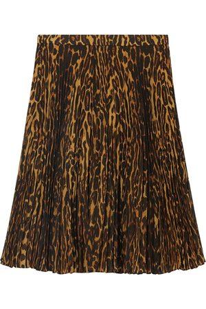 Burberry Jupe plissée à imprimé léopard