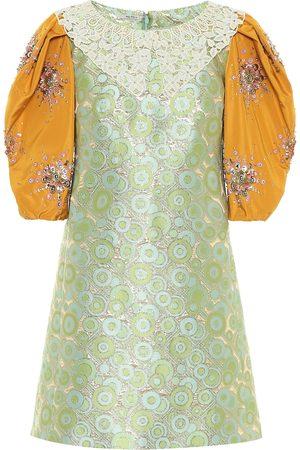 Miu Miu Robe en brocart de soie mélangée à sequins