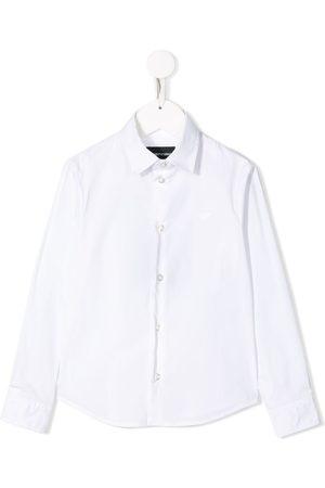 Emporio Armani Chemise à logo brodé