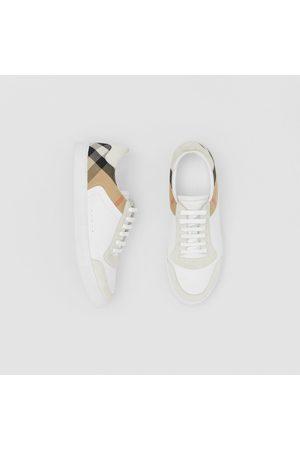 Burberry Sneakers en cuir, cuir velours et House check, Size: 39, White