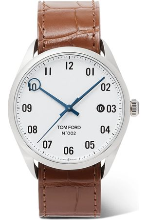 Tom Ford 002 40mm Stainless Steel And Alligator Watch