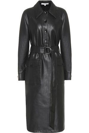 tibi Femme Robes midi - Robe midi en cuir synthétique