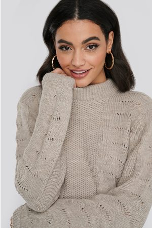 NA-KD Pattern Knitted Round Neck Sweater