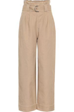 Ganni Pantalon ample en coton mélangé