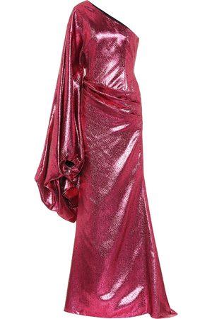 HALPERN Robe longue métallisée asymétrique