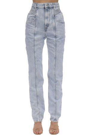 "Isabel Marant Jeans En Denim De Coton Taille Haute ""henoya"""