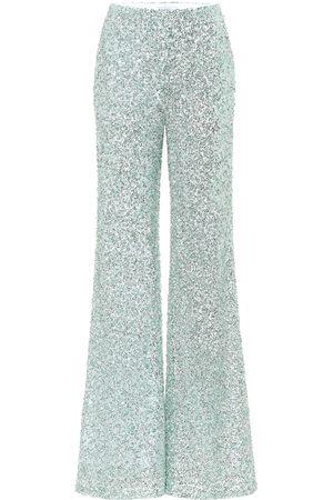 HALPERN Pantalon ample à taille haute en sequins