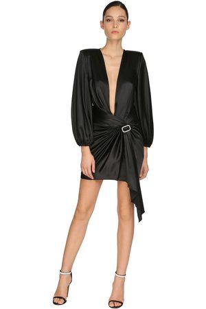 ALEXANDRE VAUTHIER Femme Robes - Embellished Stretch Satin Mini Dress