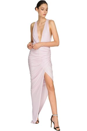 ALEXANDRE VAUTHIER Embellished Jersey Long Dress