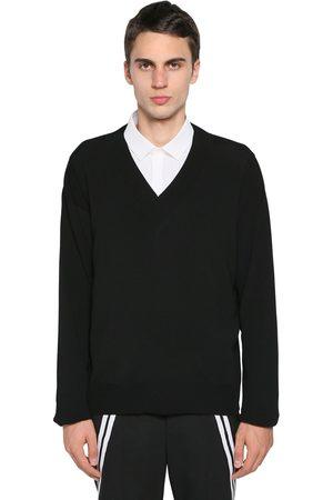 Neil Barrett Homme Pulls en maille - Boxy Nylon & Viscose Knit Sweater