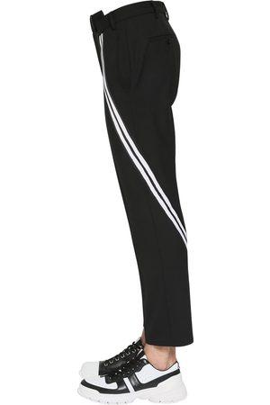 Neil Barrett Striped Stretch Gabardine Pants