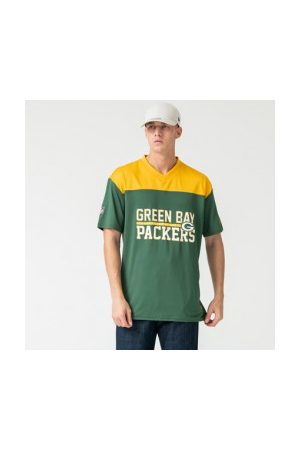 New Era T-Shirt NFL Greenbay Packers Stacked Wordmark Oversized Pour Homme