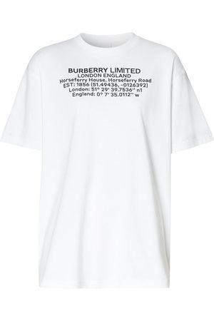 Burberry T-shirt à détail de slogan