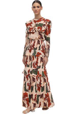 JOHANNA ORTIZ Embellished Crepe De Chine Dress