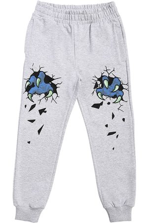 Moschino Embroidered Cotton Sweatpants