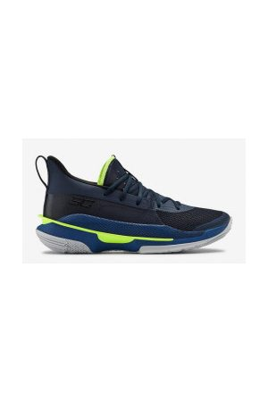 Under Armour Chaussure de Basketball Curry 7 marine pour Enfant