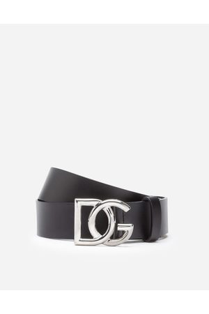 Dolce & Gabbana Ceintures - CEINTURE EN CUIR AVEC LOGO DG CROISÉ