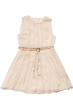 Chloé Fille Robes - Sleeveless Silk Crepe Dress